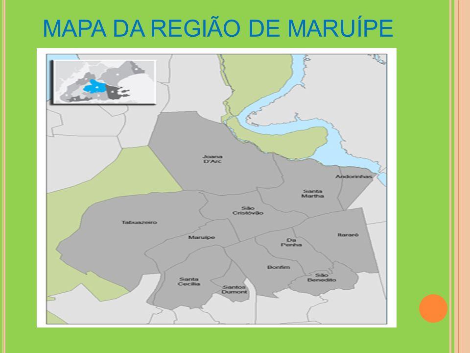 MAPA DA REGIÃO DE MARUÍPE