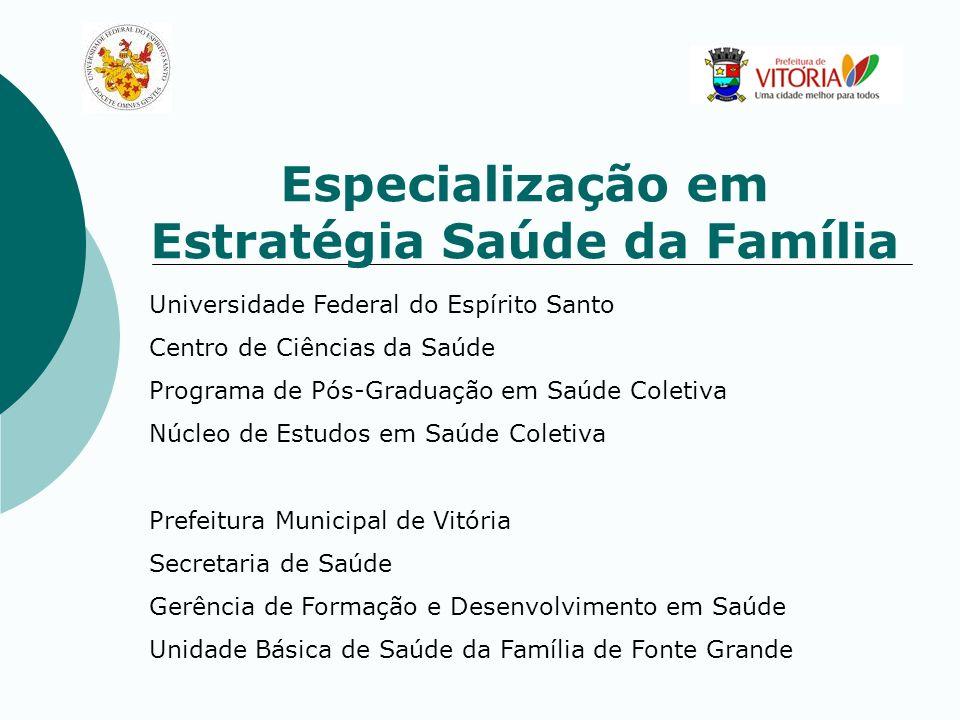 Especialização em Estratégia Saúde da Família