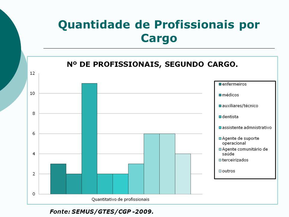 Quantidade de Profissionais por Cargo