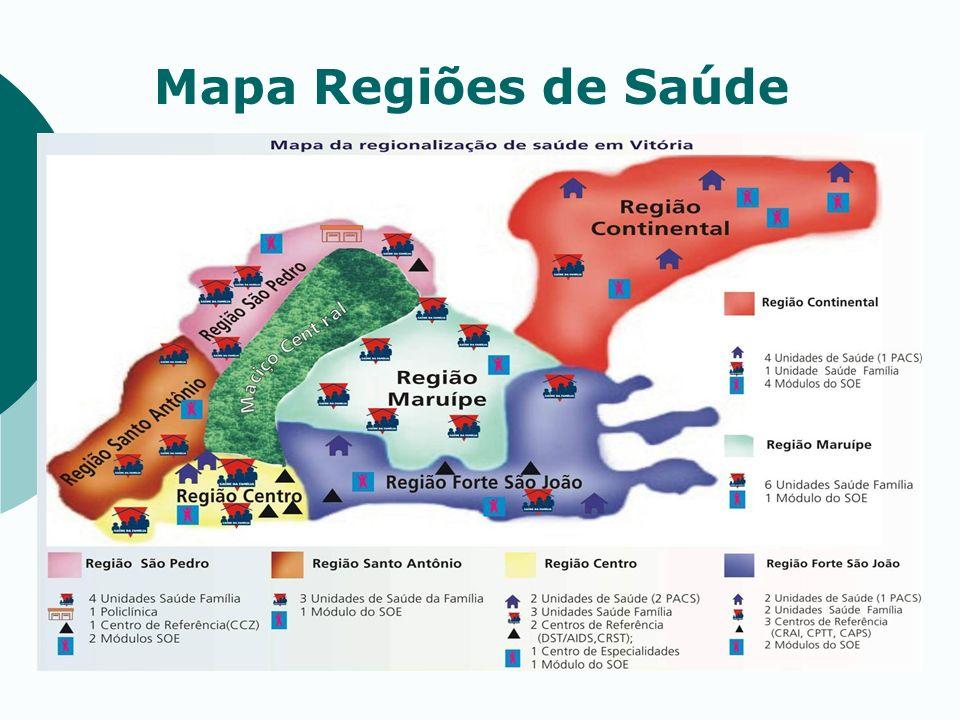 Mapa Regiões de Saúde