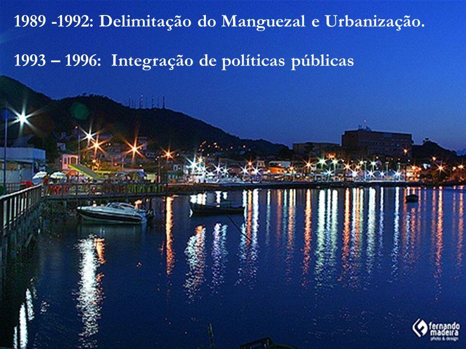 1989 -1992: Delimitação do Manguezal e Urbanização.