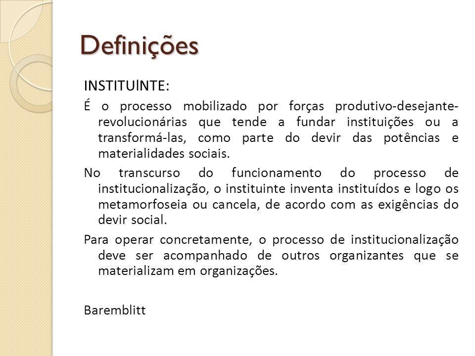 Definições INSTITUlNTE: