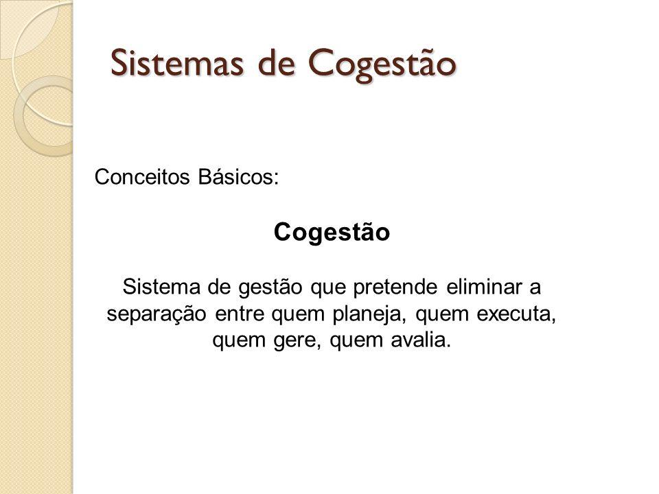 Sistemas de Cogestão Cogestão Conceitos Básicos: