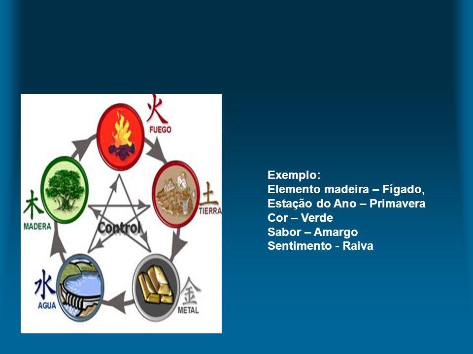 Exemplo: Elemento madeira – Fígado, Estação do Ano – Primavera.