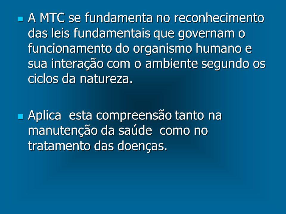 A MTC se fundamenta no reconhecimento das leis fundamentais que governam o funcionamento do organismo humano e sua interação com o ambiente segundo os ciclos da natureza.