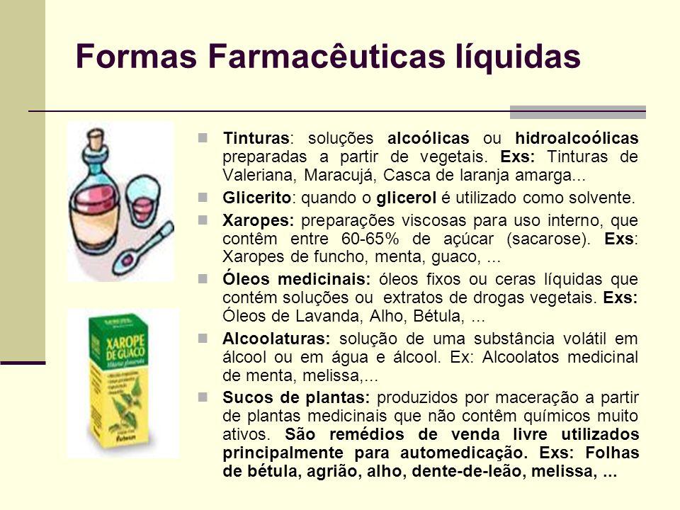 Formas Farmacêuticas líquidas