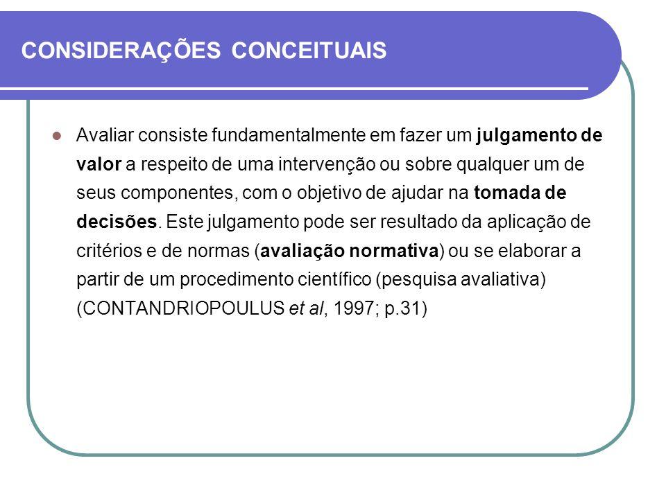 CONSIDERAÇÕES CONCEITUAIS