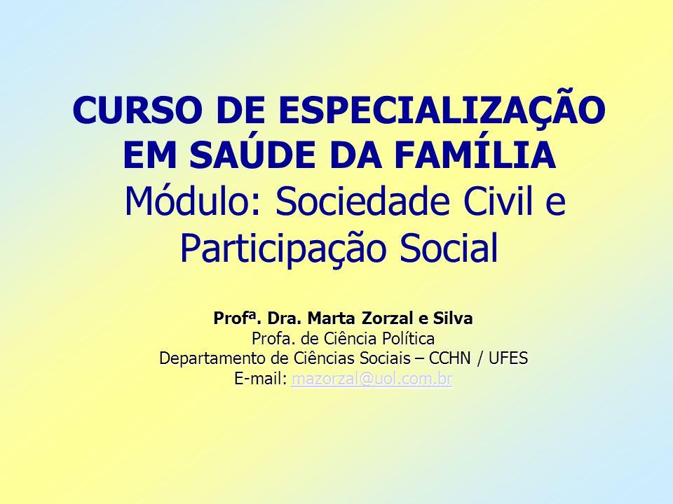 Profª. Dra. Marta Zorzal e Silva
