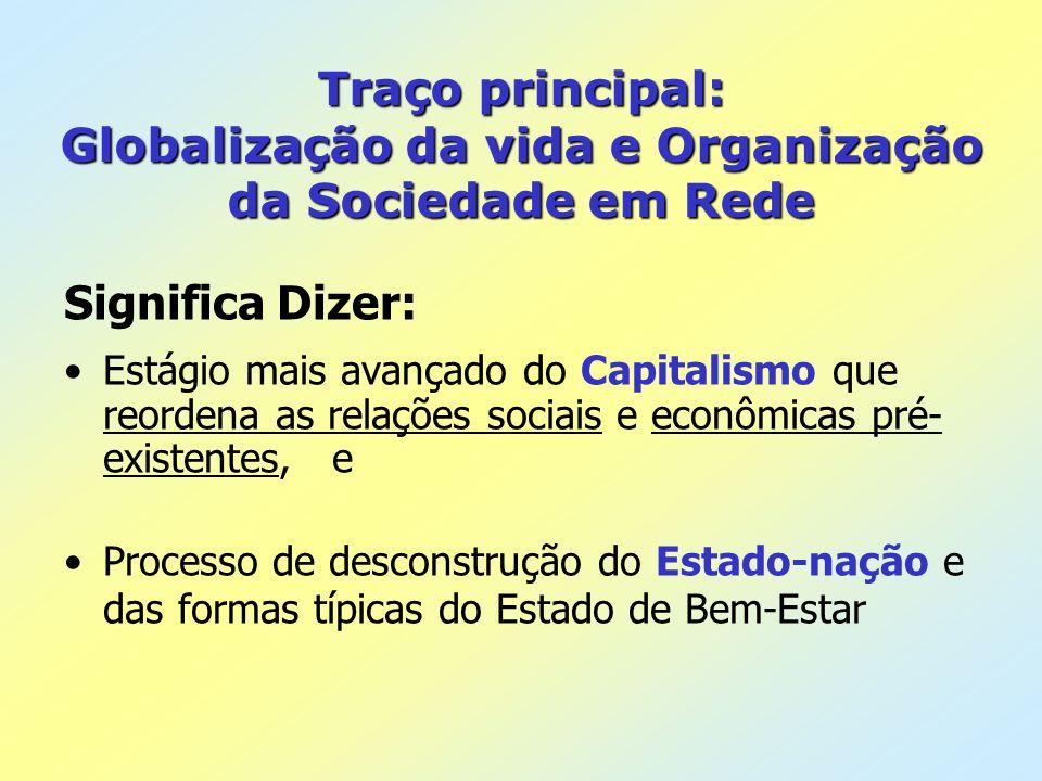 Traço principal: Globalização da vida e Organização da Sociedade em Rede