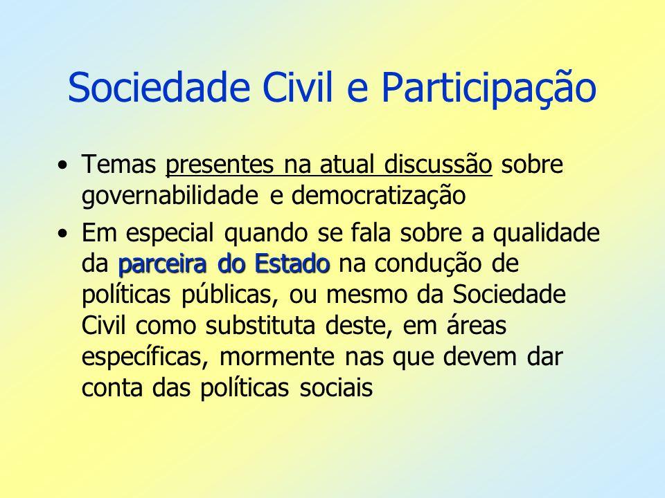 Sociedade Civil e Participação