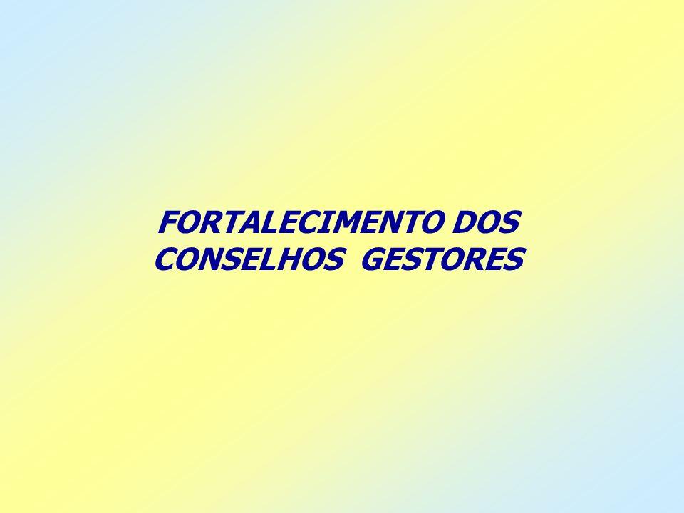 FORTALECIMENTO DOS CONSELHOS GESTORES