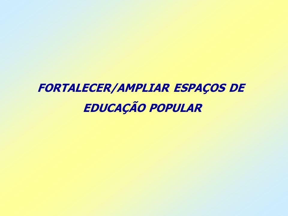 FORTALECER/AMPLIAR ESPAÇOS DE