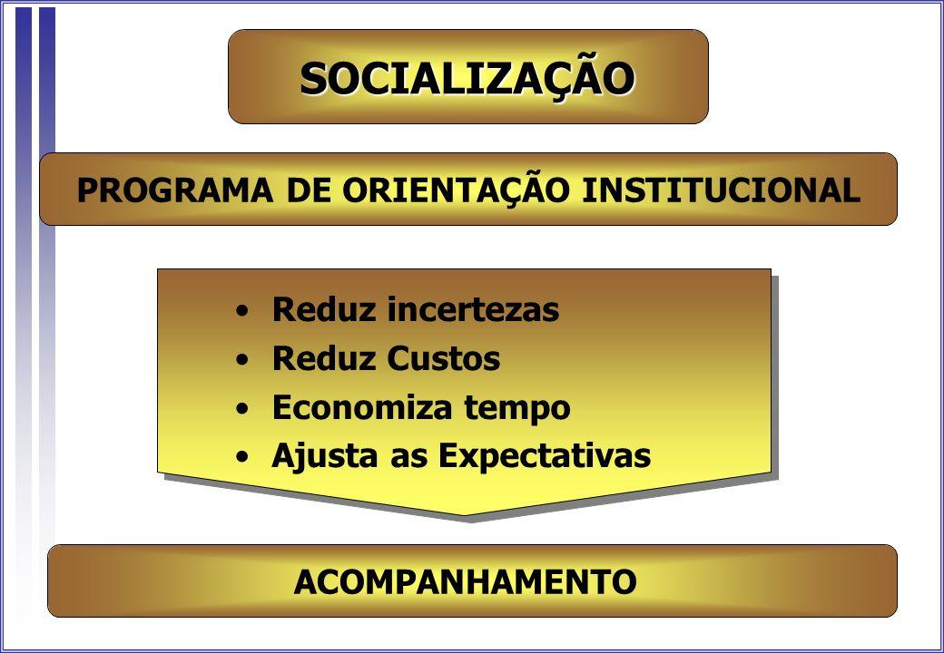 PROGRAMA DE ORIENTAÇÃO INSTITUCIONAL