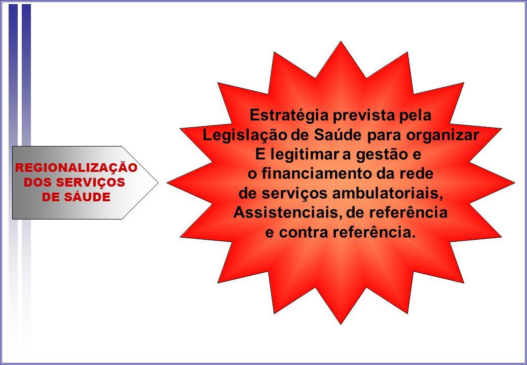 Estratégia prevista pela Legislação de Saúde para organizar