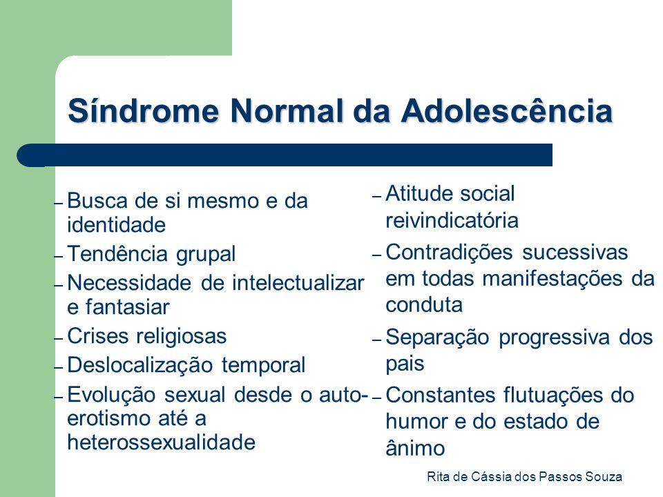Síndrome Normal da Adolescência