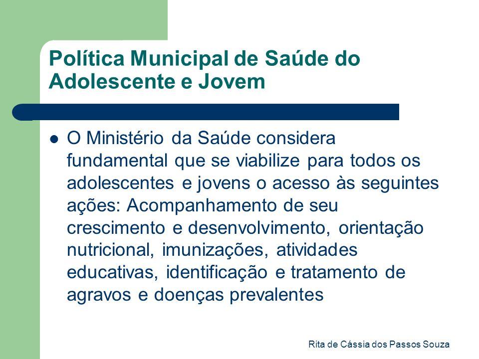 Política Municipal de Saúde do Adolescente e Jovem