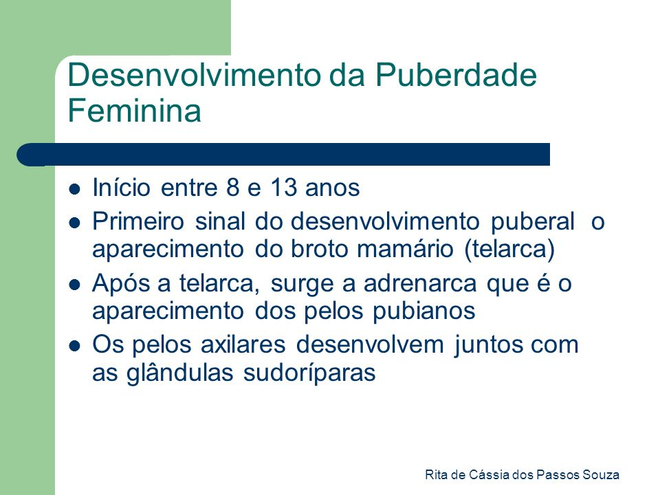 Desenvolvimento da Puberdade Feminina