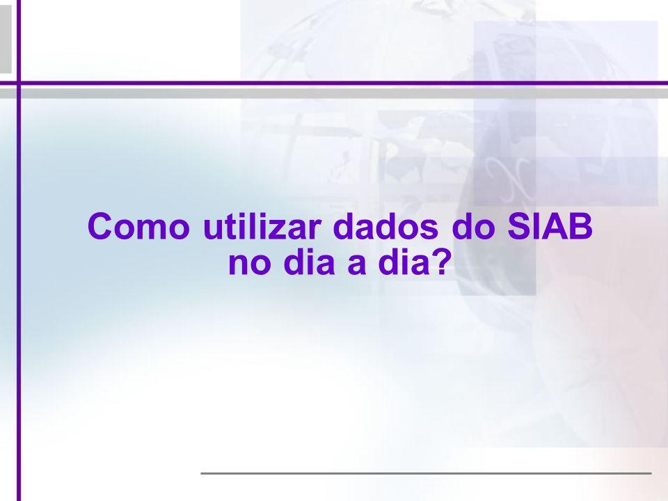 Como utilizar dados do SIAB no dia a dia
