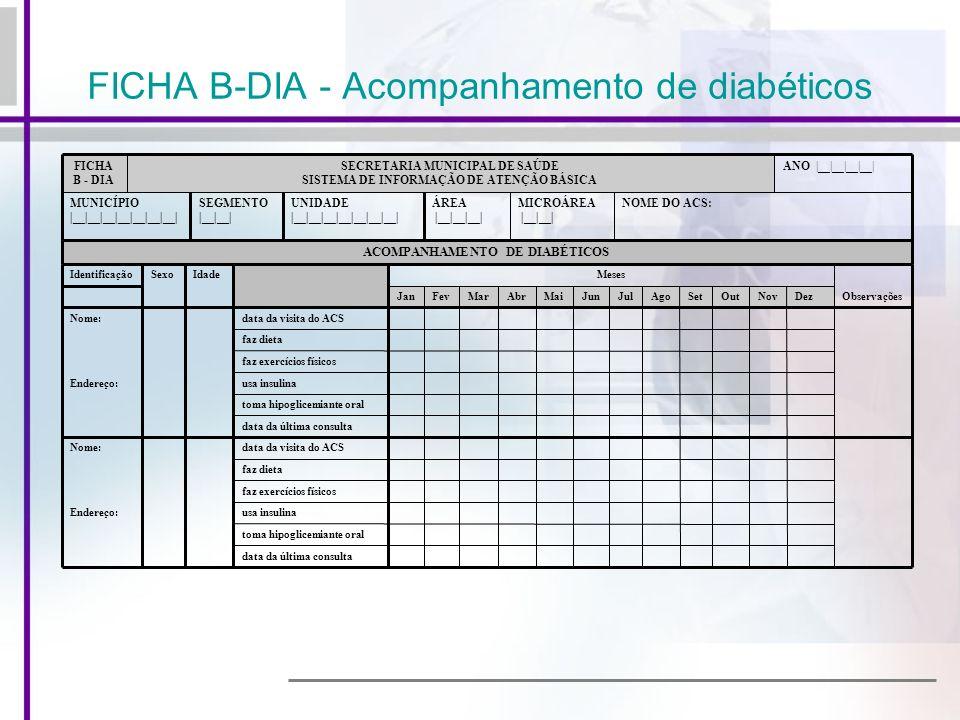 FICHA B-DIA - Acompanhamento de diabéticos
