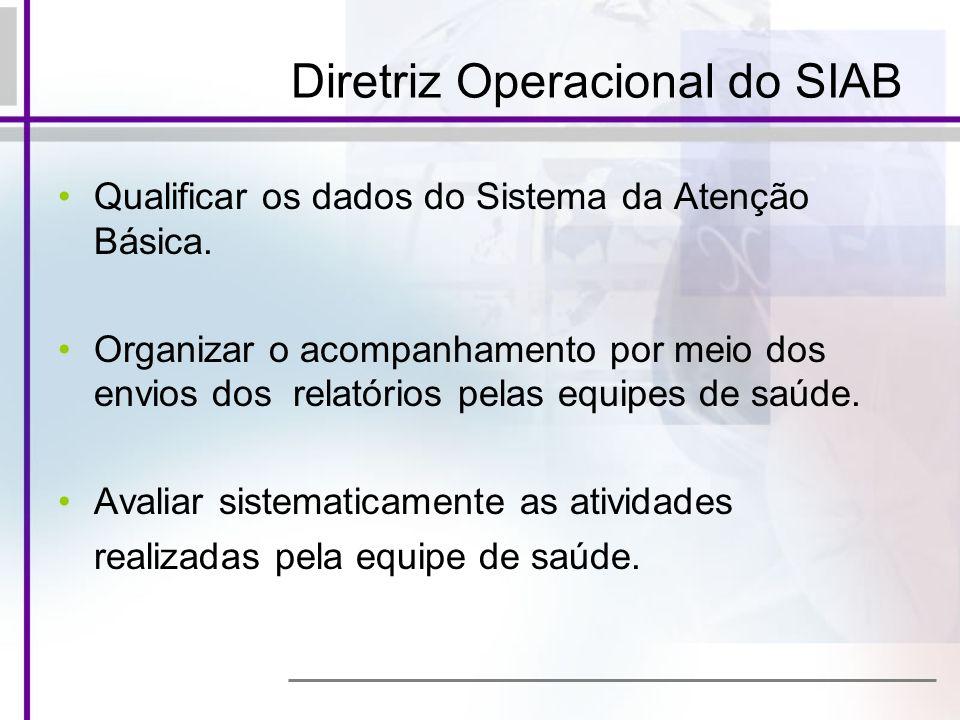 Diretriz Operacional do SIAB