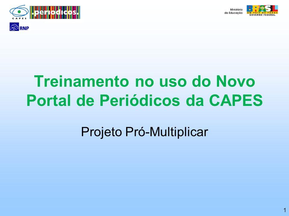 Treinamento no uso do Novo Portal de Periódicos da CAPES
