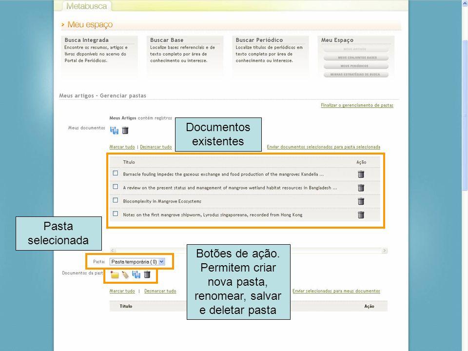 Documentos existentes