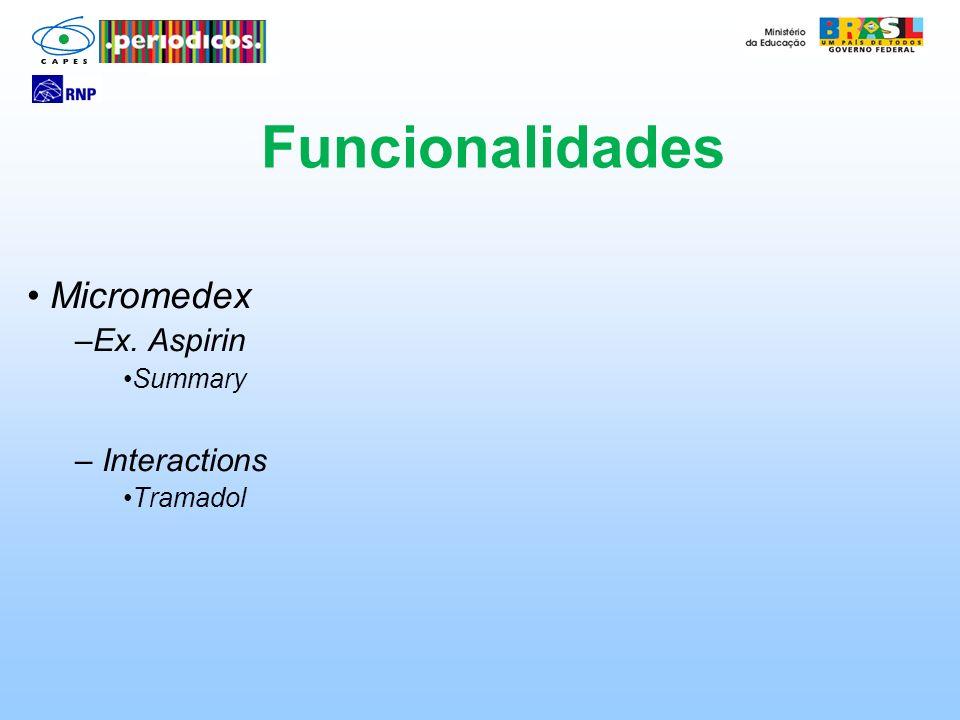 Micromedex Ex. Aspirin Summary Interactions Tramadol