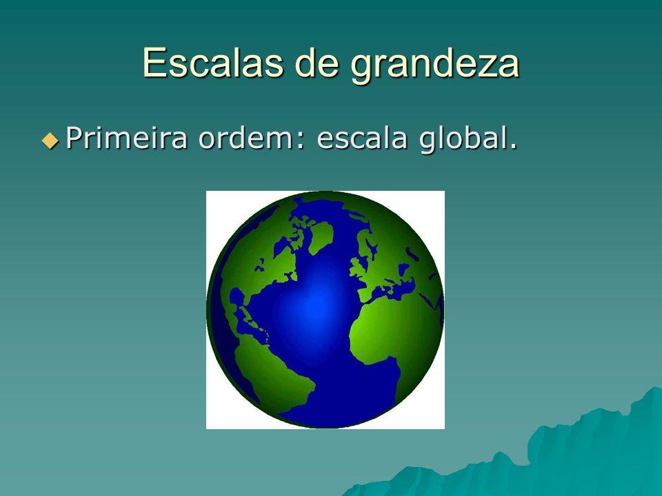 Escalas de grandeza Primeira ordem: escala global.