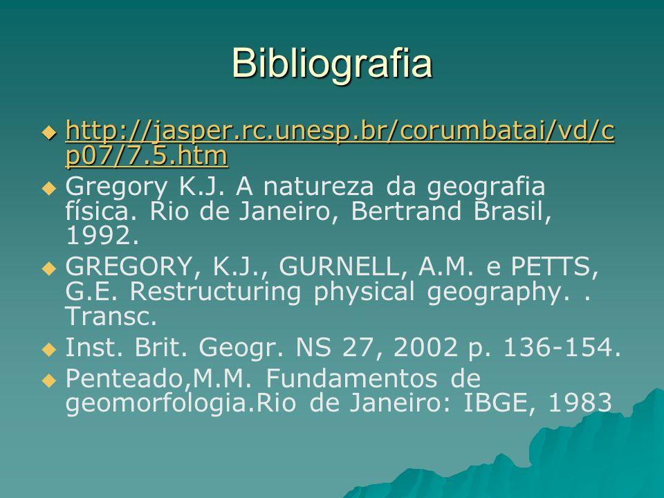 Bibliografia http://jasper.rc.unesp.br/corumbatai/vd/cp07/7.5.htm