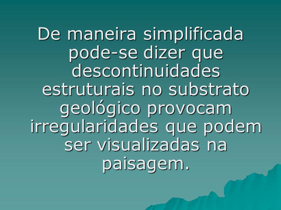 De maneira simplificada pode-se dizer que descontinuidades estruturais no substrato geológico provocam irregularidades que podem ser visualizadas na paisagem.