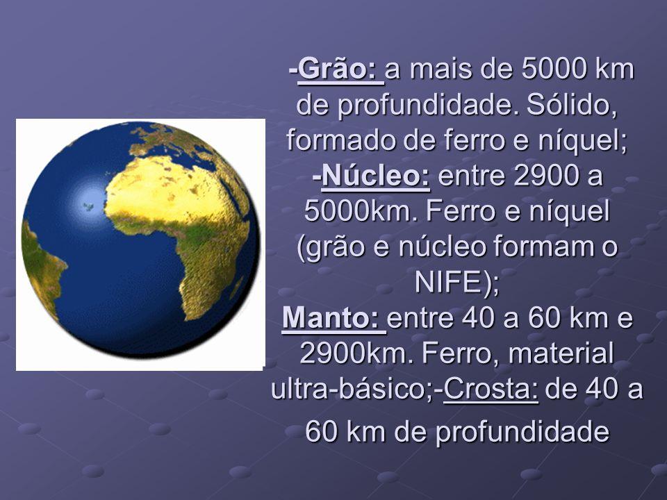 -Grão: a mais de 5000 km de profundidade