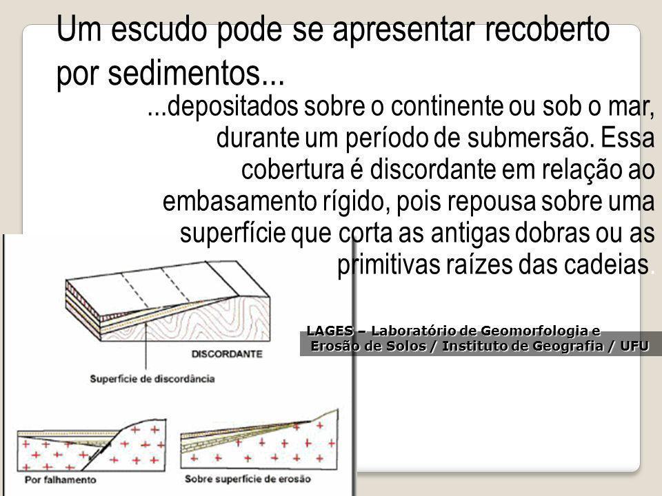 Um escudo pode se apresentar recoberto por sedimentos...