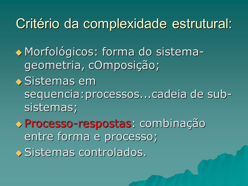 Critério da complexidade estrutural: