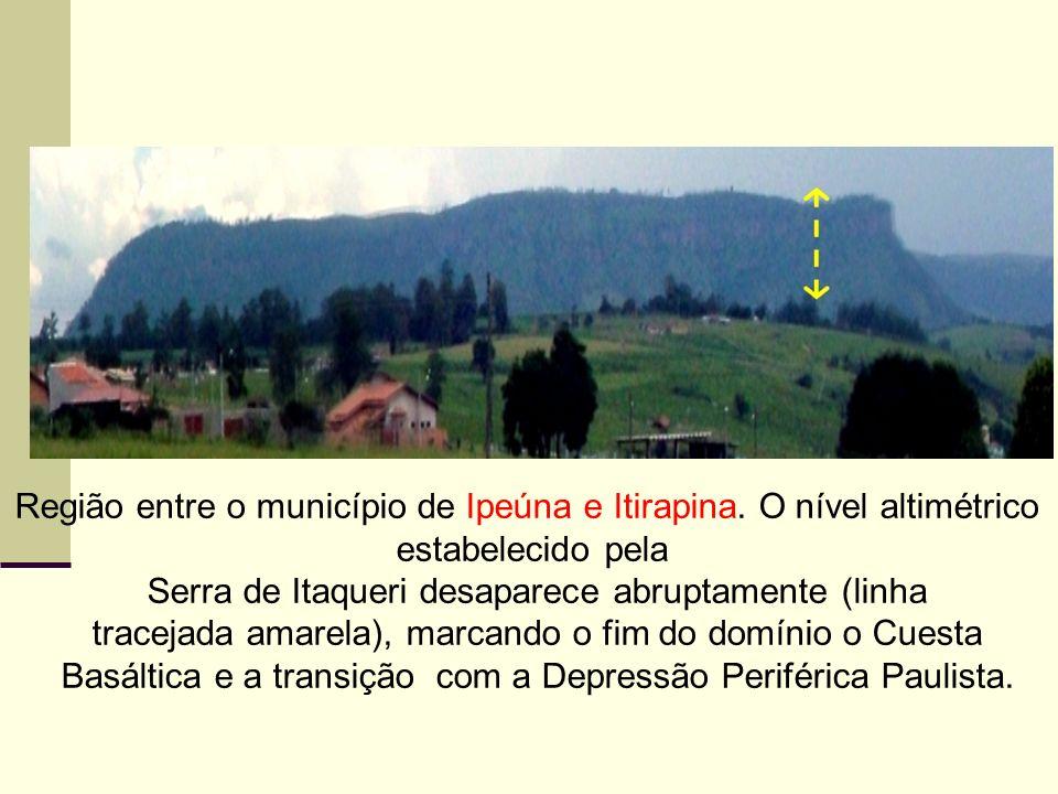 Região entre o município de Ipeúna e Itirapina. O nível altimétrico