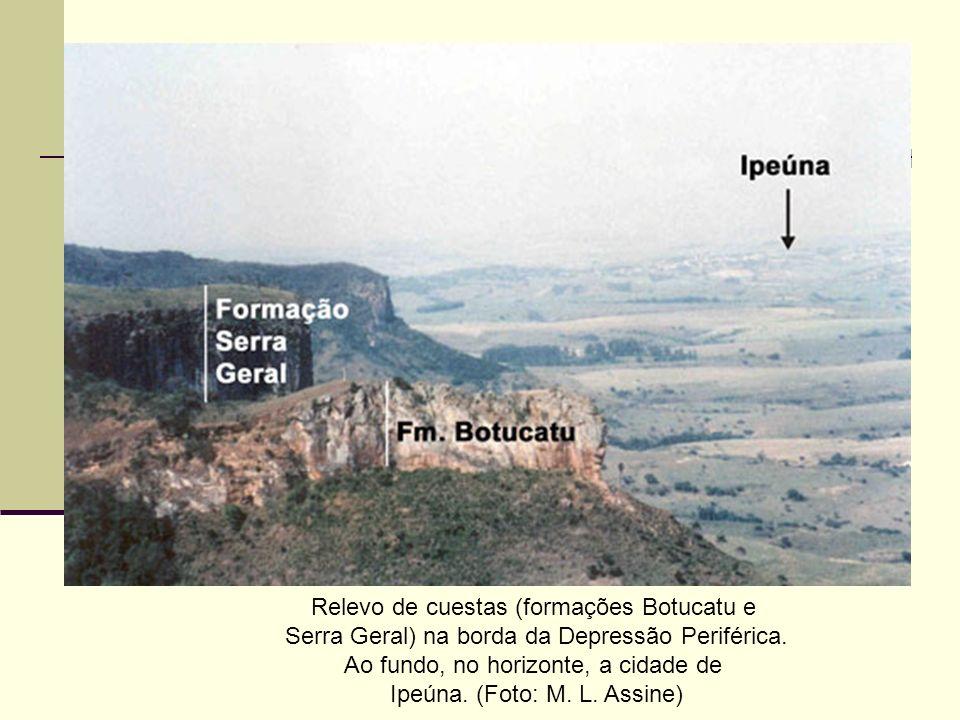 Relevo de cuestas (formações Botucatu e