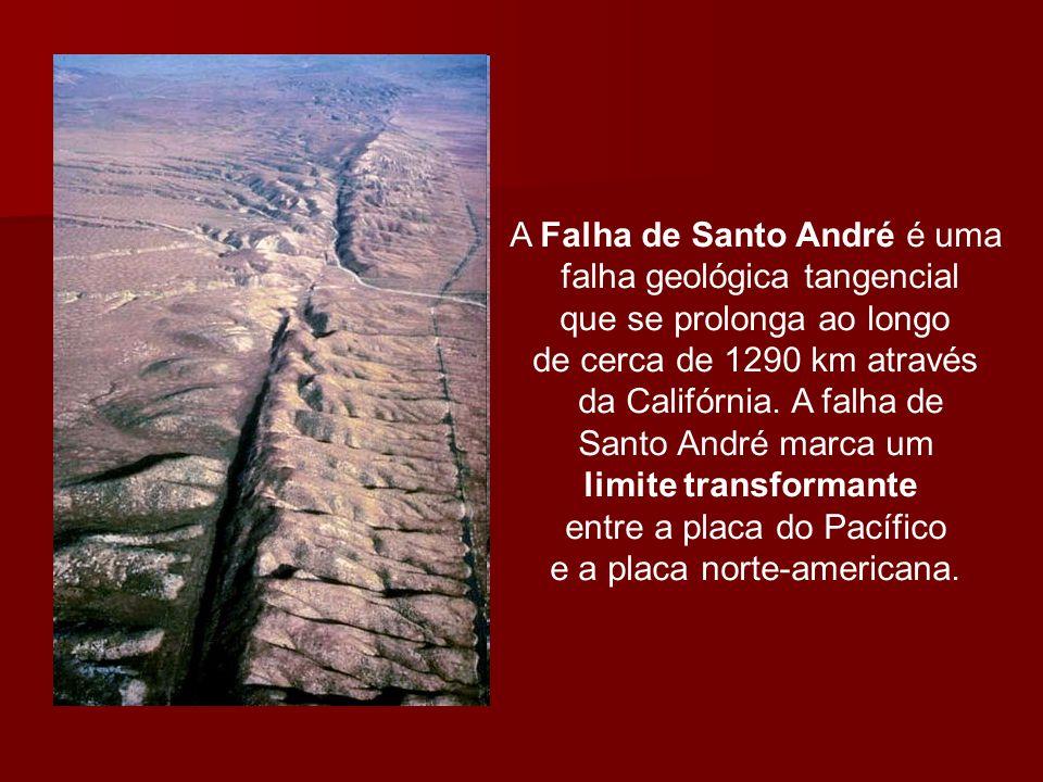 A Falha de Santo André é uma falha geológica tangencial