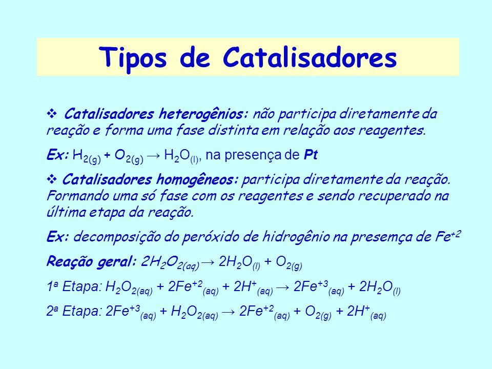 Tipos de Catalisadores