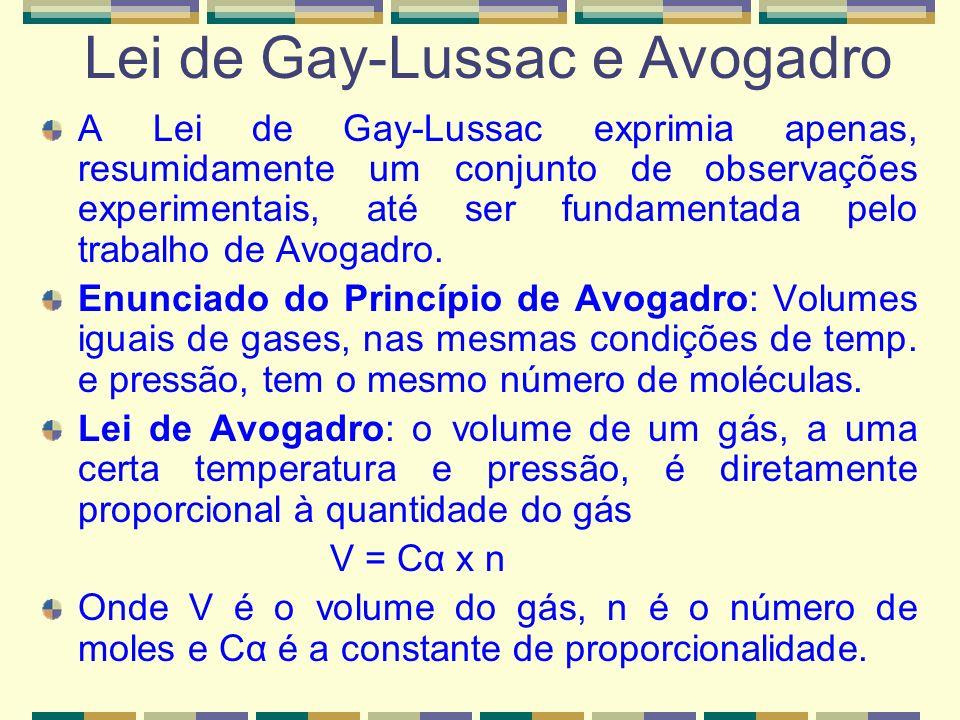 Lei de Gay-Lussac e Avogadro