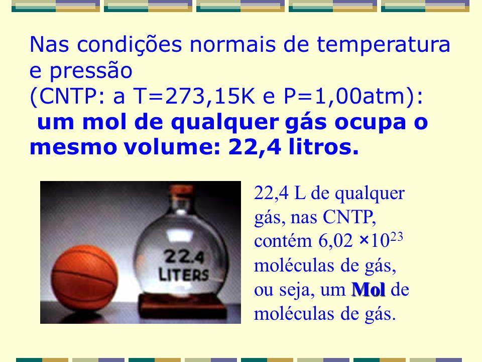 Nas condições normais de temperatura e pressão