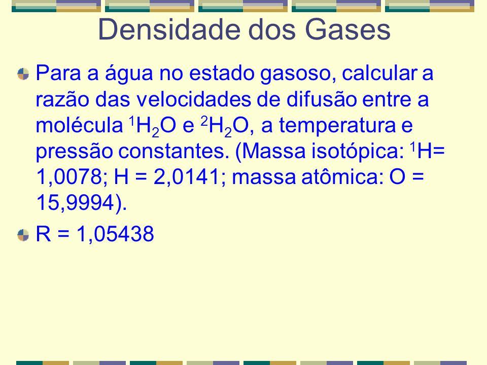 Densidade dos Gases