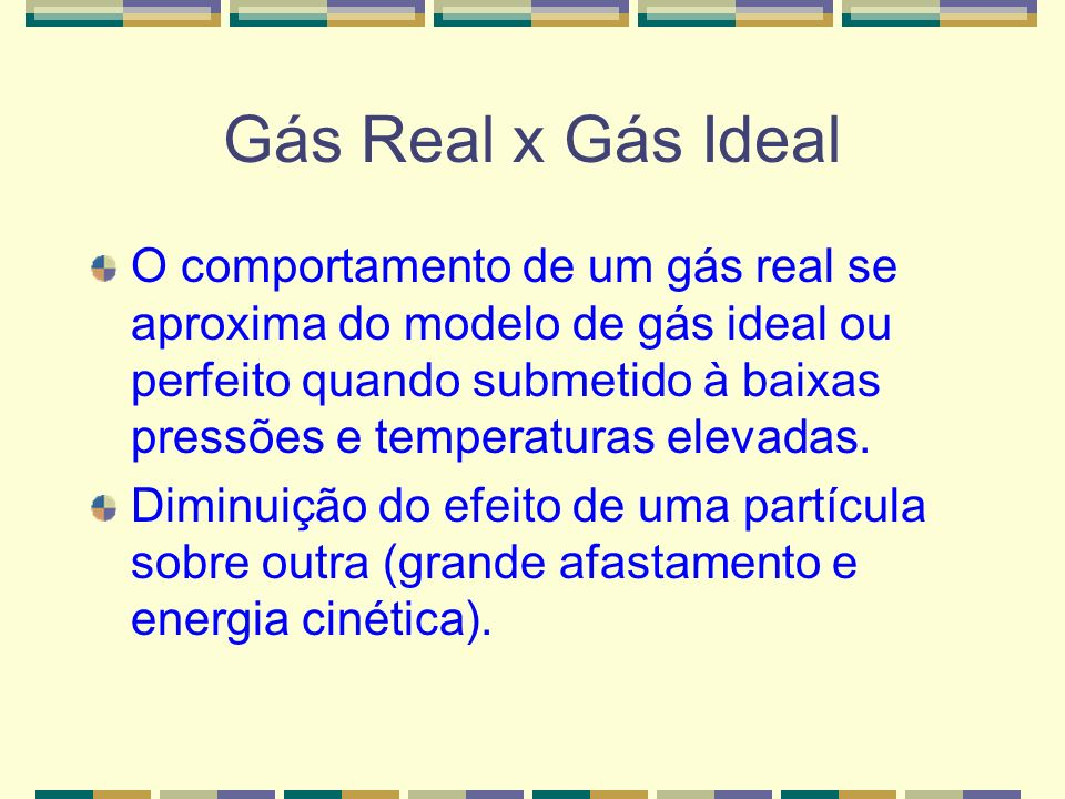 Gás Real x Gás Ideal
