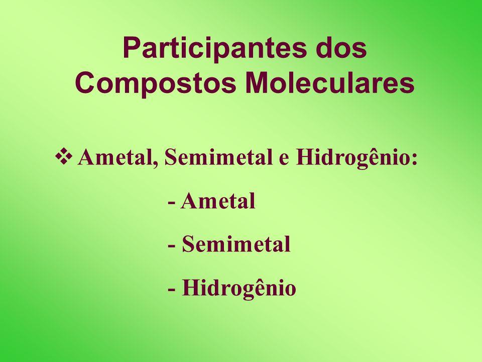 Participantes dos Compostos Moleculares