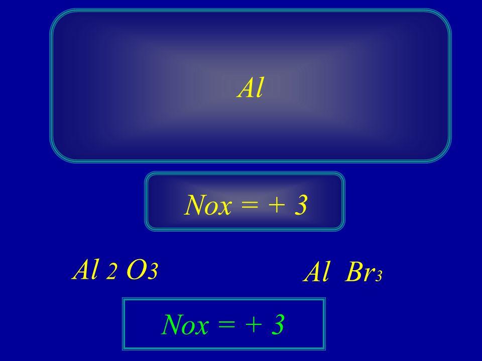 Al Nox = + 3 Al 2 O3 Al Br3 Nox = + 3