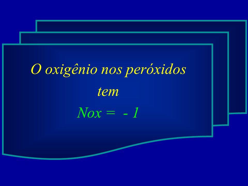 O oxigênio nos peróxidos