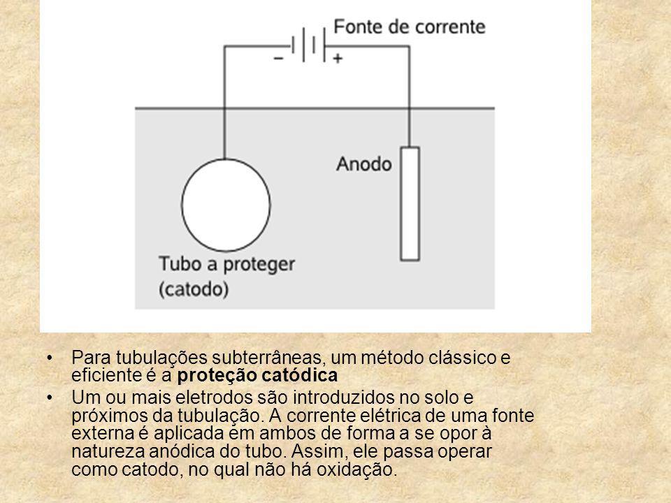 Para tubulações subterrâneas, um método clássico e eficiente é a proteção catódica