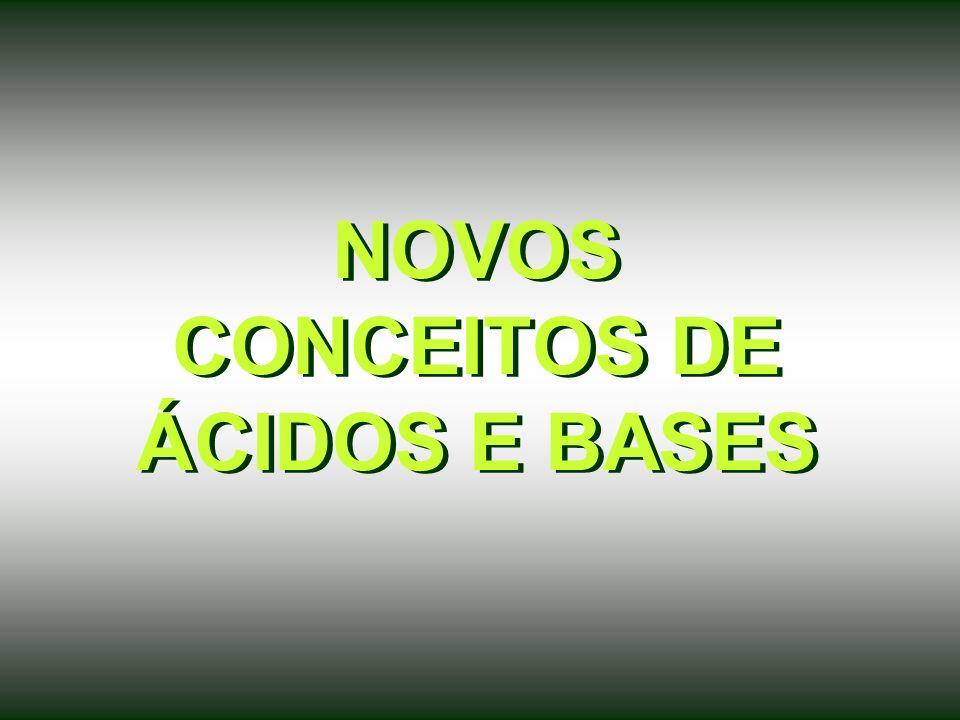 NOVOS CONCEITOS DE ÁCIDOS E BASES
