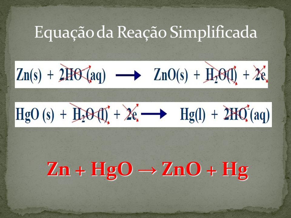 Equação da Reação Simplificada