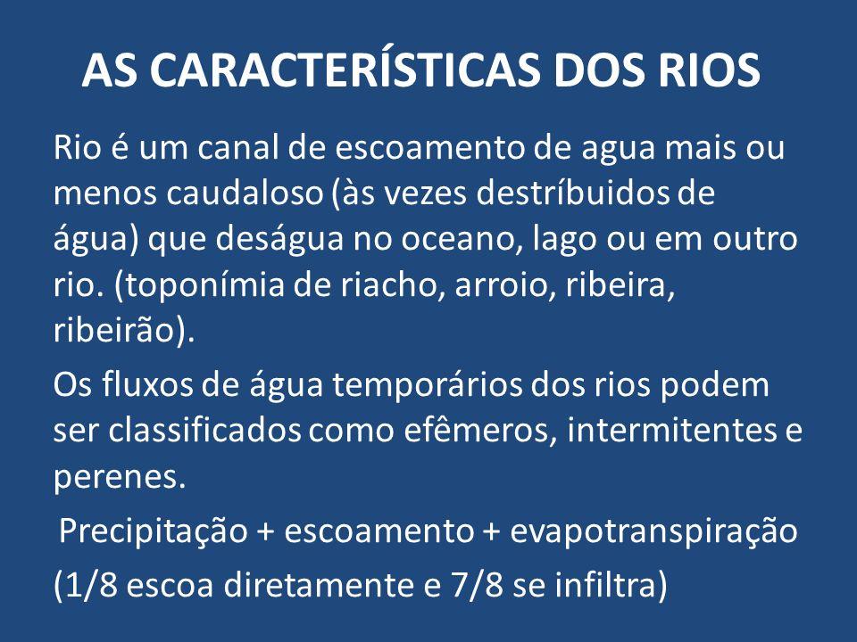 AS CARACTERÍSTICAS DOS RIOS