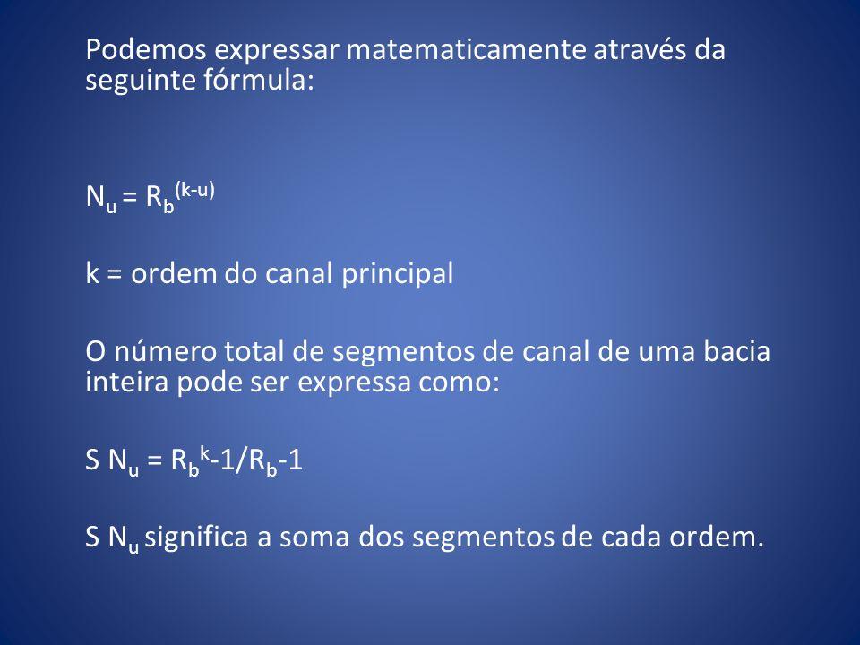 Podemos expressar matematicamente através da seguinte fórmula: