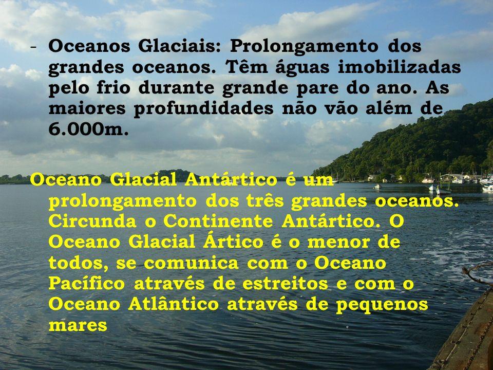 Oceanos Glaciais: Prolongamento dos grandes oceanos